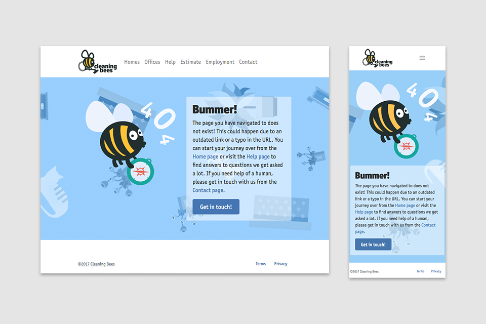 Web application for Cleaning Bees